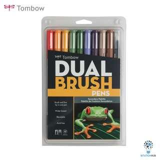 Tombow Dual Brush Pens | Secondary Palette | Pack of 10 Pens [CK-56168]