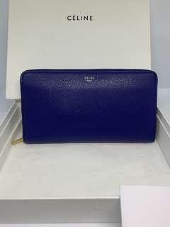 Celine large wallet in grained calfskin
