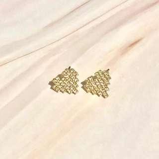 Heart earrings accessories 心心 耳環