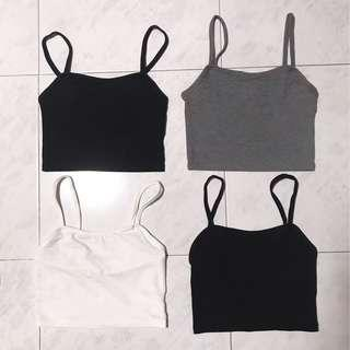 🚚 H&M cropped top in grey / black / white