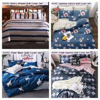BEDSHEET SALES SMOOTH AND HIGH QUALITY WITH QUILT COVER