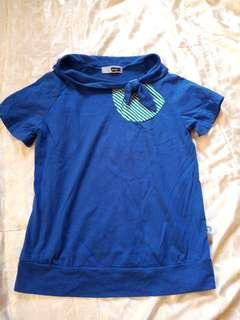 🚚 藍色 短袖上衣M