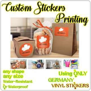 🚚 CUSTOMIZE STICKERS PRINTING