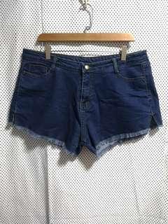 Mid-waisted Denim Short (Plus Size)
