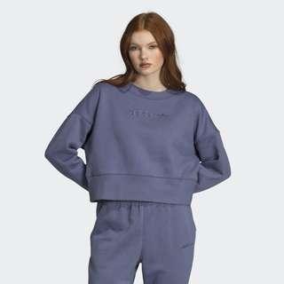 🚚 Adidas originals 休閒大學T上衣 藍紫 霧藍 DU7181