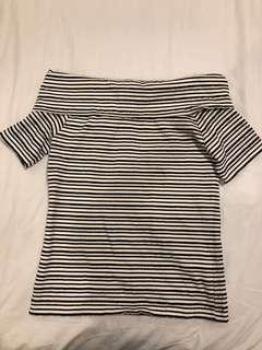 GU | striped classy off shoulder top