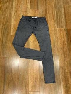 Topman Stretch Skinny Washed Black Jean's