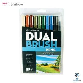Tombow Dual Brush Pens | Landscape Palette | Pack of 10 Pens [CK-56169]