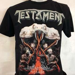 🚚 Testament Brotherhood of the snake rock t shirt