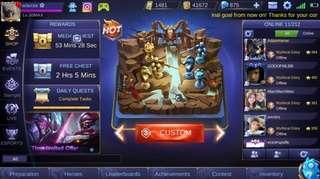 Mythical Glory Mobile Legends Account