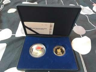 PingPong world championship silver coin