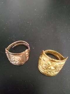 金戒子K gold ring一隻