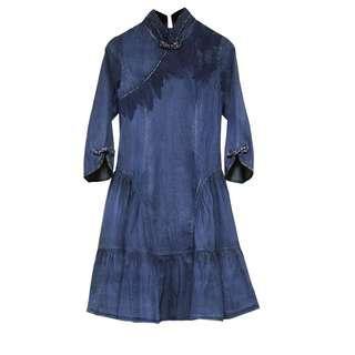 中式牛仔裙