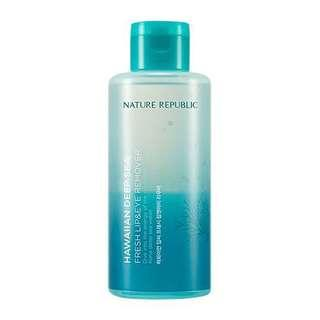 🚚 Nature Republic Hawaiian Deep Sea Lip & Eye Make up Remover