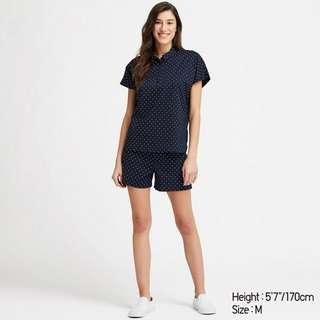 Uniqlo soft stretch short sleeve pajamas set