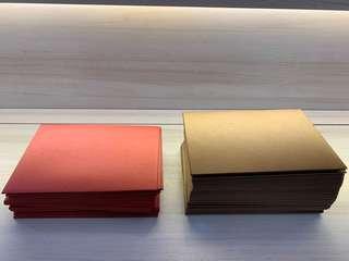 囍帖信封。紅色25 個。金色有49個。