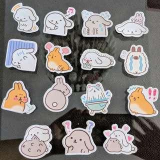 🚚 [BN] Cute Rabbit Scrapbooking Stickers