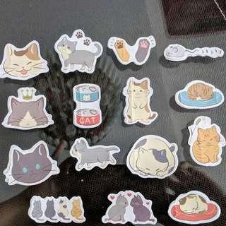 [BN] Cute Cat Scrapbooking Stickers