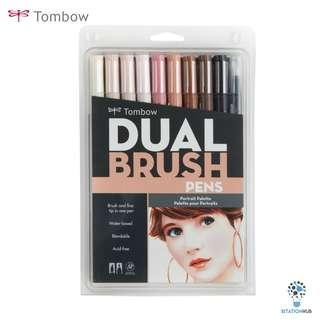 Tombow Dual Brush Pens | Portrait Palette | Pack of 10 Pens [CK-56170]