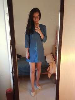Zara trafaluc denim dress