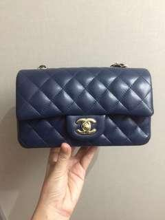 Chanel Navy Caviar Mini