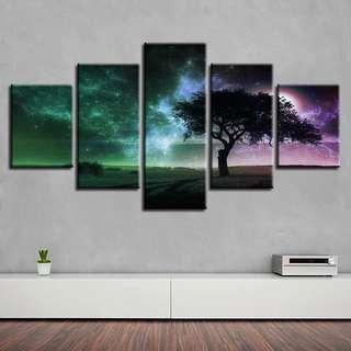 🚚 Starry Sky & Tree Canvas Print