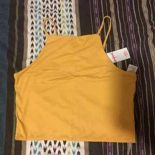 Pure Honey Luxe High Neck Crop