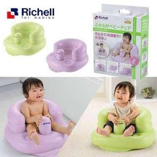 日本直送 Richell充氣浴盤🚿➕學習椅💺套裝