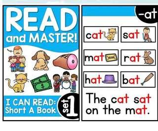 🚚 I can read and master : Phonics reading cards 107 pcs