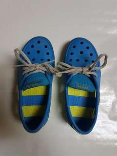 Crocs Kids Beach Line Lace Up Boat Shoes