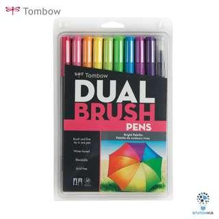 Tombow Dual Brush Pens | Bright Palette | Pack of 10 Pens [CK-56185]