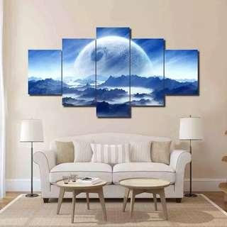 🚚 The Moon & Mountains Canvas Print