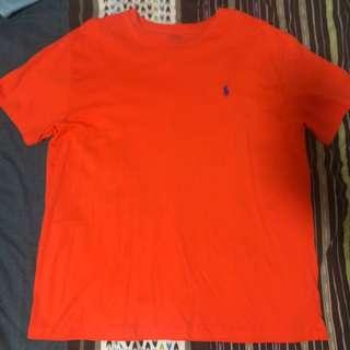 Orange Ralph Lauren Crewneck T-shirt