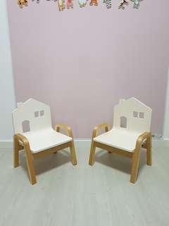 Kids toddler wooden chair