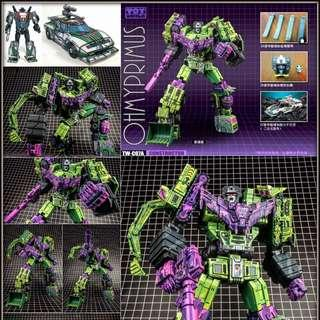 [Pre-order] Toyworld TW TW-C07A Constructor - Transformers Masterpiece MP Devastator Constructicons Cel Cell Shaded (Set Of 6) - Deluxe Version
