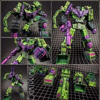 [Pre-order] Toyworld TW TW-C07A Constructor - Transformers Masterpiece MP Devastator Constructicons Cel Cell Shaded (Set Of 6) - Normal Version