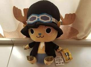 日本景品~Banpresto 海賊王 one piece DX Manekko Chopper Plush Doll Sabo 2018