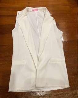 Women Sleeveless White Vest