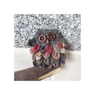 🚚 Accessory Owl Key-Ring 日雜手作 貓頭鷹鑰匙圈 吊飾