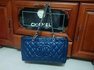 Chanel海軍藍荔枝紋