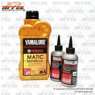 YAMALUBE MATIC SEMI SYNTHETIC 4T OIL 20W-40 AT - COMBO SET (F)