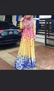 Leeyanarahman fairytale dress kembang
