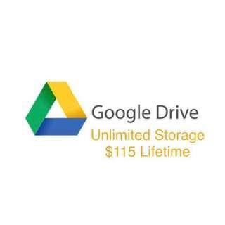 Google Drive 無限空間 永久使用 storage unlimited