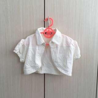 Baby Crop Jacket White
