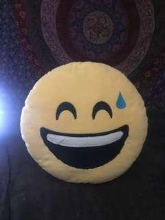 Very cute emoji pillow!