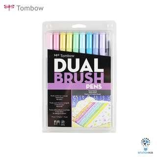 Tombow Dual Brush Pens | Pastel Palette | Pack of 10 Pens [CK-56187]