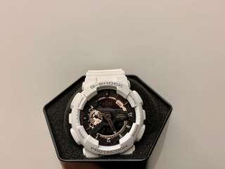 G-Shock Casio WR20BAR 玫瑰金/白 GA-110RG
