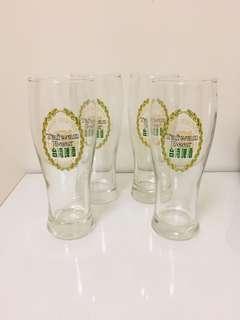 🚚 特價大拍賣!文青風普普風台灣懷舊早期玻璃杯老玻璃杯杯子4個一組250
