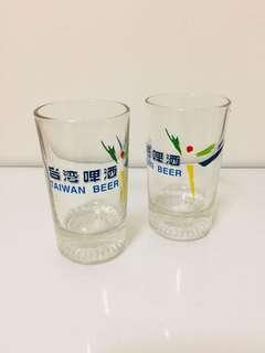 🚚 特價大拍賣!文青風普普風台灣懷舊早期玻璃杯老玻璃杯杯子2個一組100