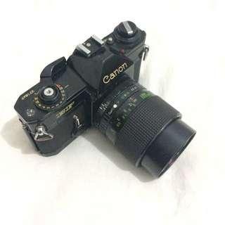 Kamera Analog Canon EF + lensa maginon series 28-70mm